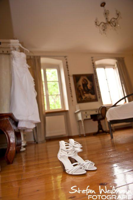 Die Braut in den Vorbereitungen