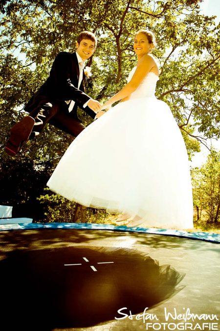 Trampolin Hochzeit