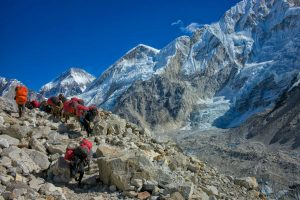 Transporte zum Everest Base Camp